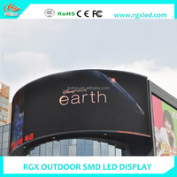 Shenzhen RGX HD SMD P4 P5 P6 P7 P8 P10mm Curved outdoor LED Screen / 360 LED Display /Full Color Curved Screen