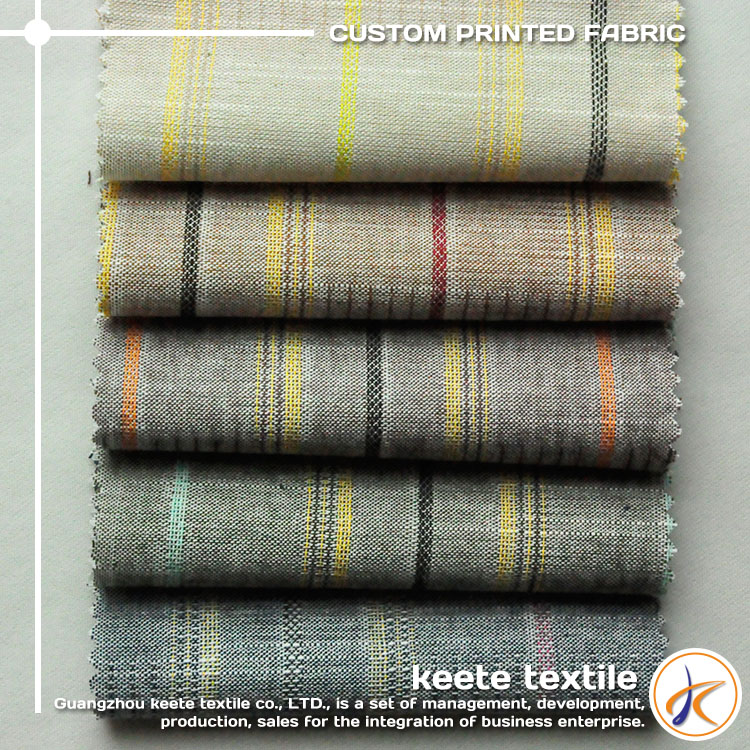 Wholesale classic linen type cloth textile 100% combed cotton woven fabric dimity fabric