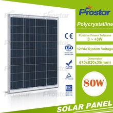 factory supply nice price polycrystalline 80w pv cell solar panel Monocrystalline Solar Module