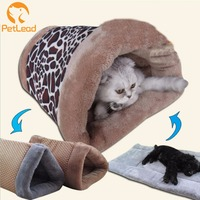 Double use indoor cat house mat soft warm luxury dog pet mat cat cave bed