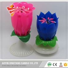 Chinese Offered Sample Non Scented Eco Friendly Lotus Birthday Candle