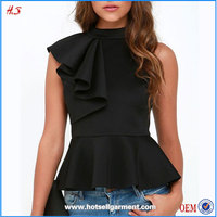 New arrival blouses for women peplum top women formal blouse designs lady top
