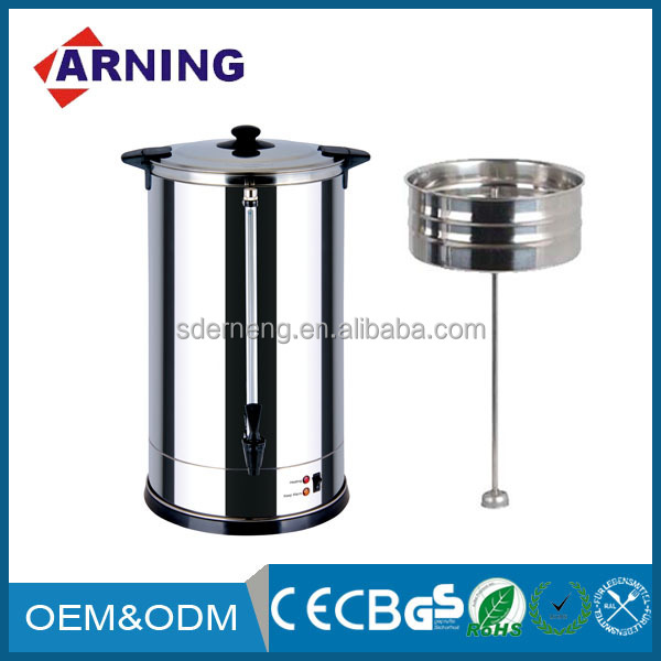 30 Cups 2015 Electrical Apppliance Commercial Using Stainless Steel Tea Coffee Water Boiler Electric Hot Water Urn