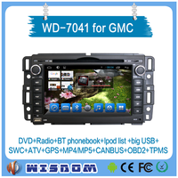 Top quality android car dvd player for GMC with car stereo bluetooth auto audio mp3 player radio gps navigation in wifi SWC CE