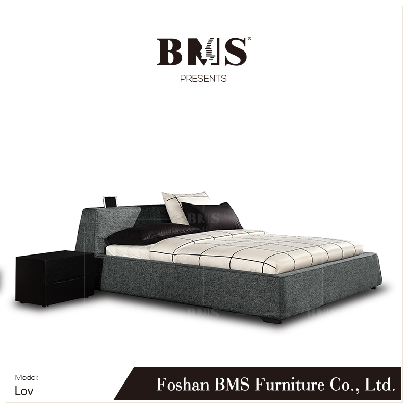 Passionate design comfortable headboard cot double bed models