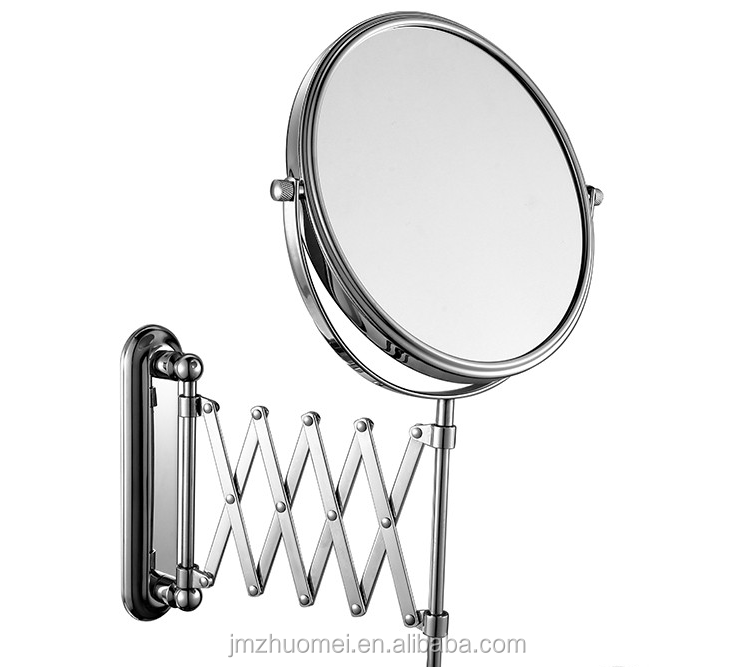new design hotel style double side wall mount magnifying makeup mirror