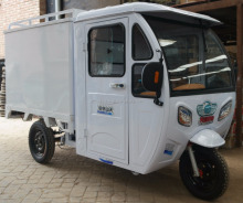 Hot Sale 3 Wheel Tricycle with Carbin, electric delivery tricycle with closed cargo box , with enclosed van