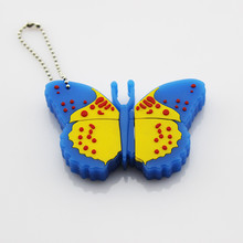 Cartoon style butterfly shape usb flash drive real capacity pendrive promotion gift items usb memory stick