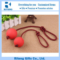 Dog Elastic Solid Rubber Chew Ball with Rope