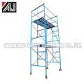 Ladder Frame Steel Rolling Scaffold With Rubber Wheel