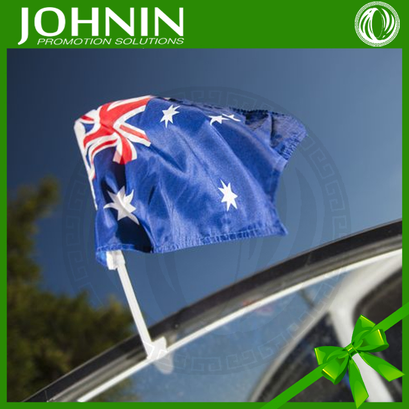sport soccer polyester promotional country car window oem printed flag