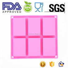 Clearance Sale 6 Cavities Silicone Soap Mold, Plain Basic Rectangle Silicone Mould for Homemade Craft Soap Mold