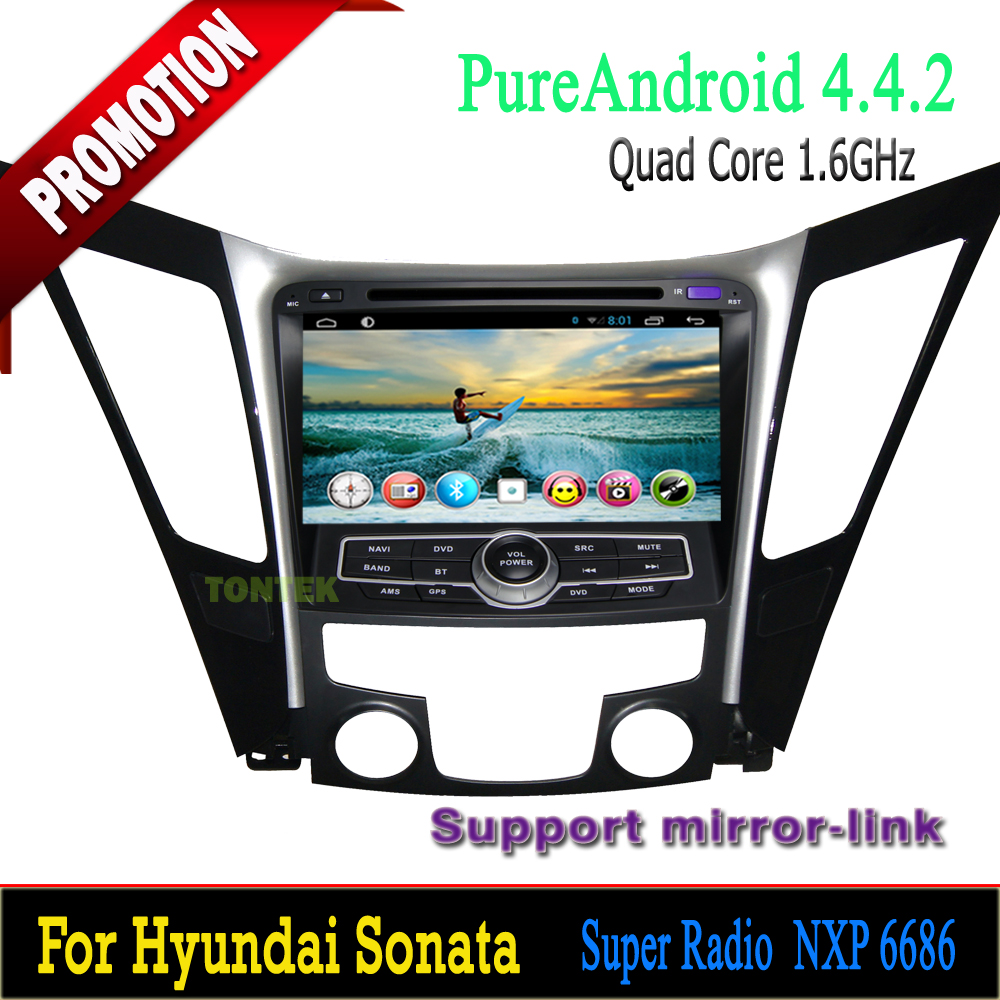 Android Quad Core for Hyundai Sonata Car dvd Player 8 inch double din with GPS+IPOD+BT+Radio+AUX IN+MP3+MP4+DVD+3G/4G WIFI etc