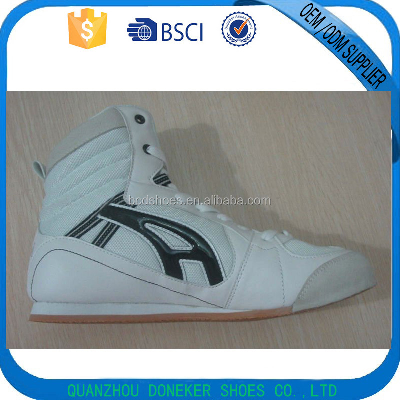 fashion high top boxing shoes custom made boxing shoes