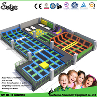 The Hotsale Cheap Fashional Funny Games Big Trampoline park for Kids & Adults
