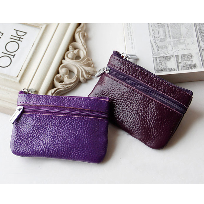 Wholesale Top Grain Real Leather Mini Wallet