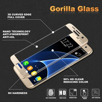 Hot Selling for Samsung Galaxy S7 Edge Silk Printing Tempered Glass