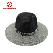 wholesale lady men women paper straw fedora hat panama cheap
