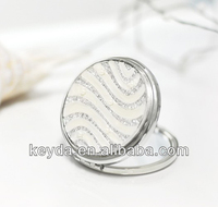 fashion metal cosmetic pocket mirror for wedding gifts