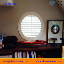 Plantation basswood shutters for round windows