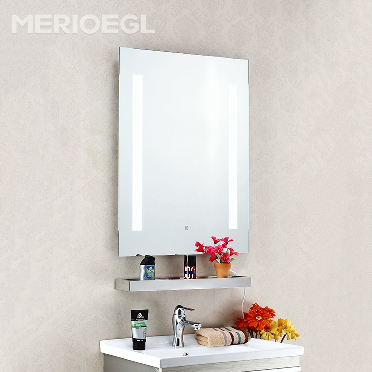 New frameless bathroom lighted mirror, wall mounted hotel bathroom LED mirror