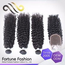 Best selling home show products 100% Indian natural kinky jazz wave remy hair
