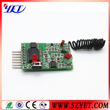 long range wireless rf decoding module 3-5v YET205A-630