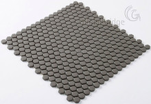 New design glass pebble mosaic tile for bathroom decoration