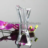 Clear simple crystal vase