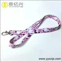 Full color cartoon printed cheap polyester made lanyard