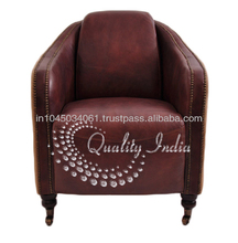 Leather Fabric Corner Single Seater Sofa