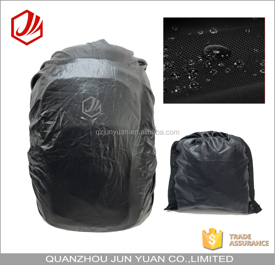 Foldable black rain cover for backpack