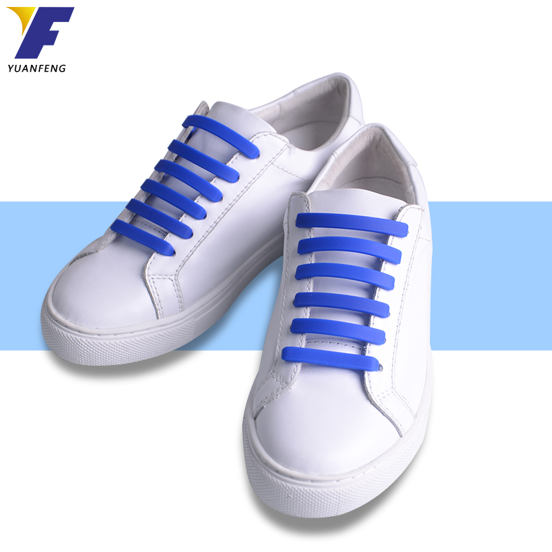 China Manufacturer Convenient Silicone Shoe Laces Cheap and Custom Printed Logo