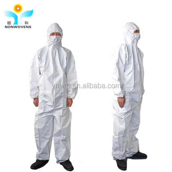 Wholesale PP+PE coveralls non woven protective overalls 40gsm PP protective dressing