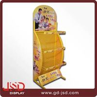 Supermarket display products welded wire shelving cheap metal shelving wire display stand for sale