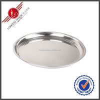 Clear Stainless Steel Silver Plated Serving Tray