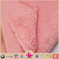 Polar fleece Bonded with super soft sherpa fleece faux fur fabric for garment