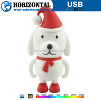 2015 new design promotion gifts merry christmas dog USB flash drive