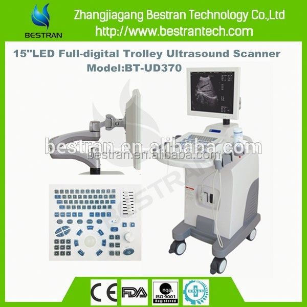 BT-UD370 Super quality 15 inch LED display animal ultrasound with luxury wheel