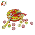 wooden Pizza toy set for children's pretend play