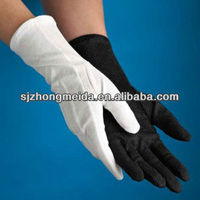 marching band glove cotton glove white and black long cuff work glove