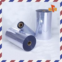 PVC high tenacity stretch shrink wrapping film blue packing shrink film
