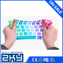 Hot selling laptop keyboard covers product slim rainbow silicon keyboard covers for macbook pro