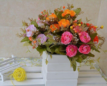 Hot sell plastic artificial flowers,artificial flower bunch