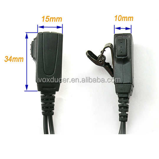 [E1723-Y] Intercom ear hook headphone with mic for Yaesu Vertex VX-10 VX-300 VX-400 VX-410 VX-420 VX-1R VX-2R VX-3R