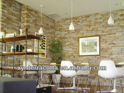 Piedra artificial para la decoración de la pared exterior e interior ...