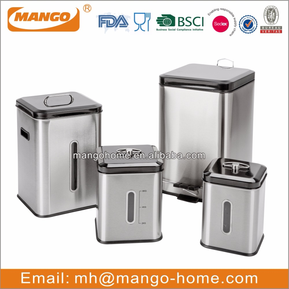 Hot Sale Square stainless steel rice storage box