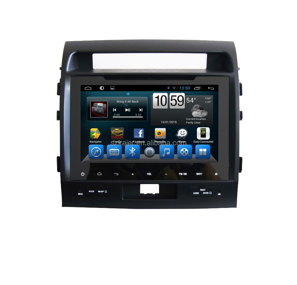 Android 4.4 Full touch screen car dvd GPS for Land Cruiser 200 +qual core +OEM+factory directly !