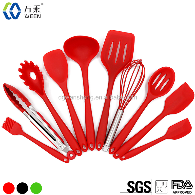 2017 Hot Sell 10 types of Non-stick Silicone Kitchen Ware