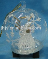 Glass Angel Ornaments with led light Gle-9